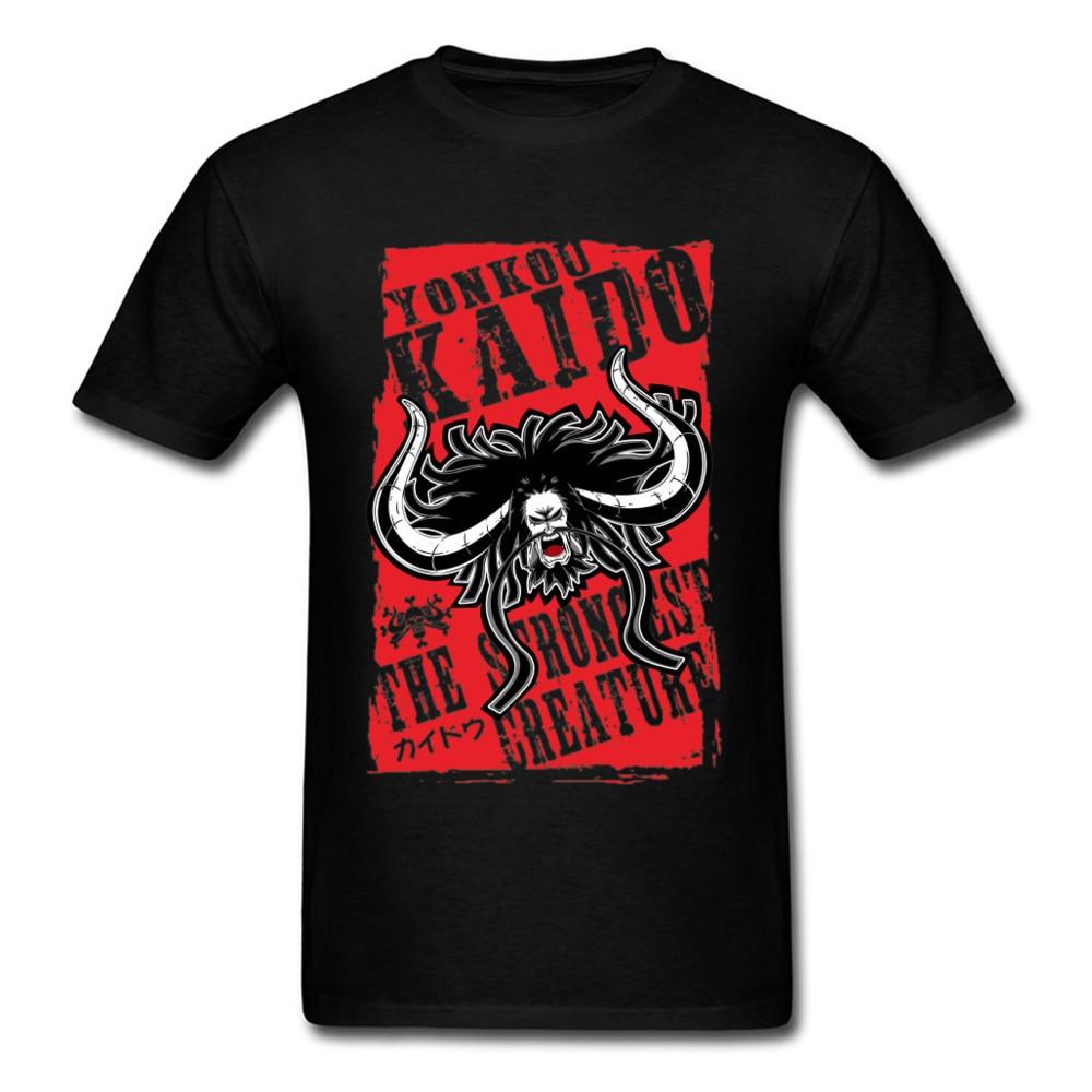 Camiseta del rey Kaido para hombres camisa de una pieza con letras...