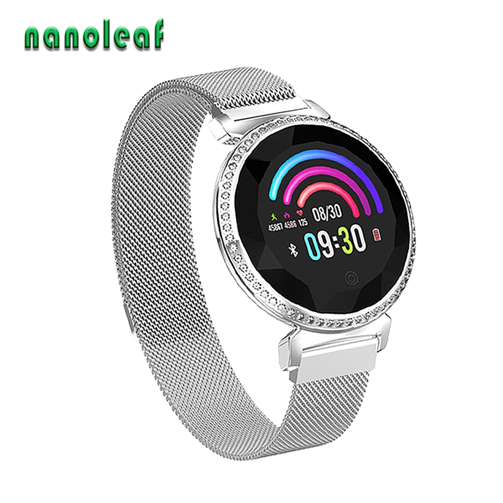 Banda inteligente la medición de la presión arterial Fitness Tracker de Monitor de pulso señoras reloj de pulsera inteligente reloj de mujer y hombre