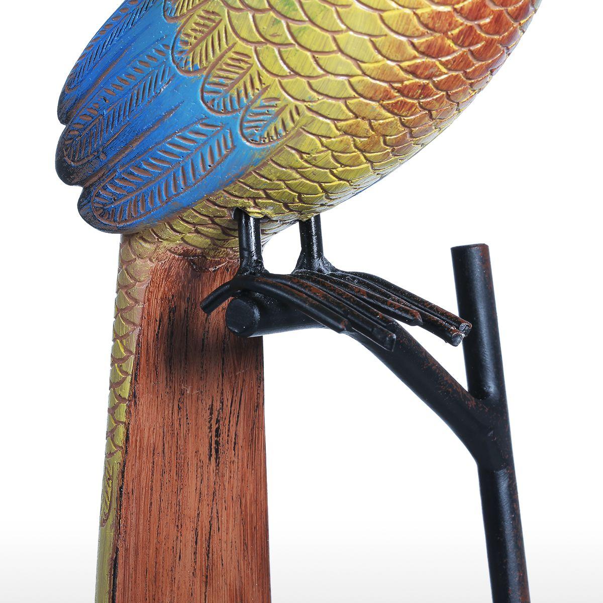 Nueva escultura de resina de pájaro de cola larga, adorno de fibra de vidrio, estatua de decoración interior, figurita exagerada abstracta, arte moderno