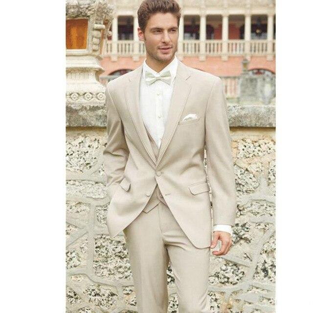 بدلة زفاف من الكتان للرجال ، بدلة شاطئ مخصصة لرفقاء العريس ، بدلة رجالية ، ثلاث قطع (سترة + بنطلون) ، 2020