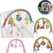 Schöne Baby Wiege Sitz Bett Hängen Spielzeug Krippe Mobile Kinderwagen Hängen Weiche Plüsch Rasseln Ring Glocke Pädagogisches baby Spielzeug M0036