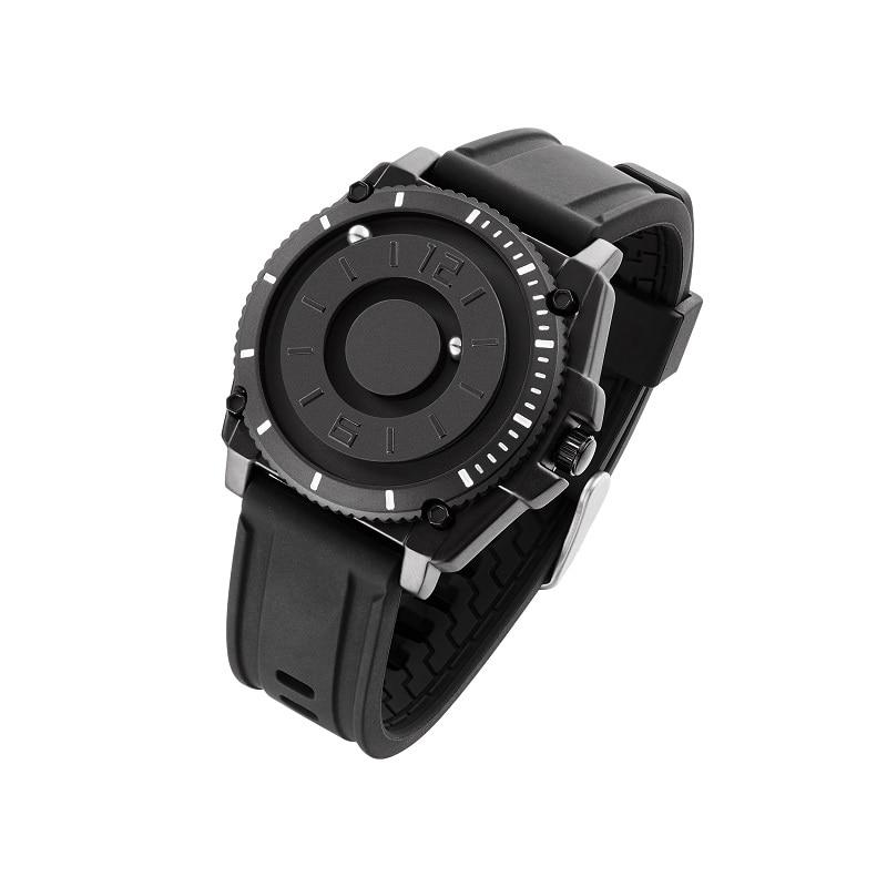 Magnético para Homem Pulseira de Silicone Relógio de Quartzo Relógios de Pulso Eutour Relógio Simples Masculino Minimalista Novidade 2021 E029