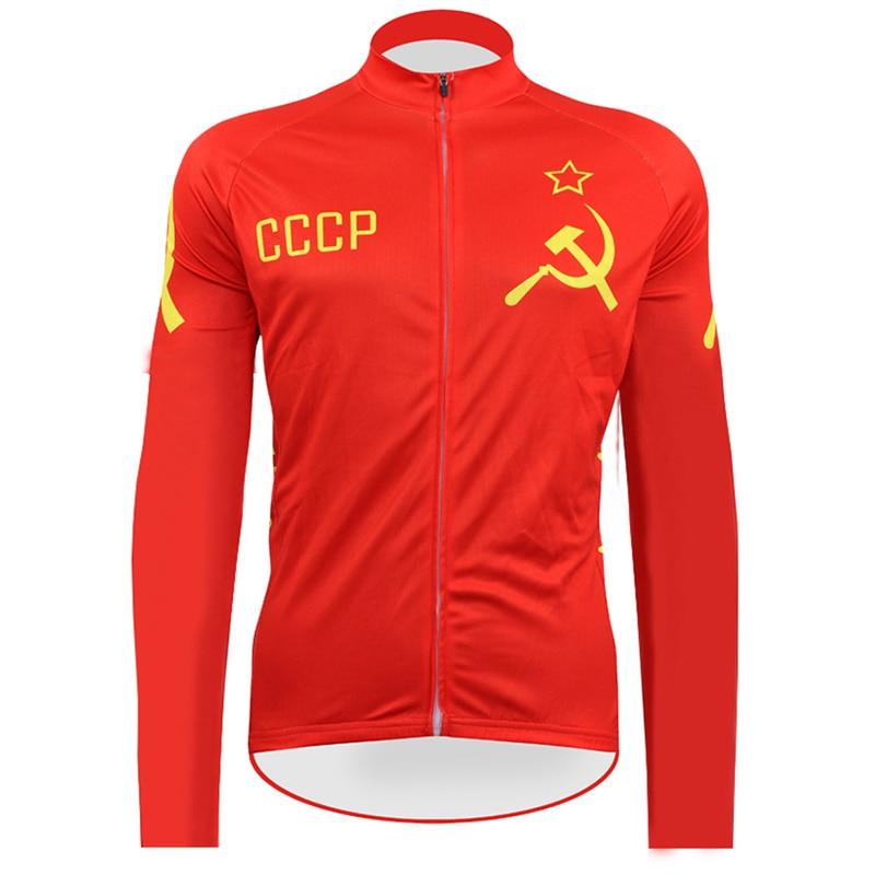 CCCP-camisetas De Ciclismo De manga larga para Hombre, Ropa De Ciclismo De...