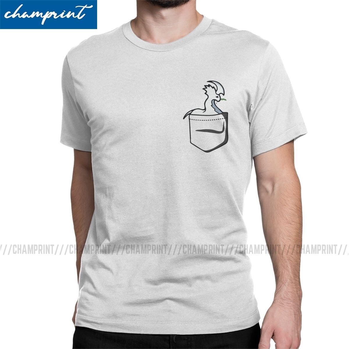 Camisetas de hombre de bolsillo Thrumbo Chewing Pine Tree Branch divertidas Meme camisetas increíbles de manga corta Rimworld Gaming camisetas ropa
