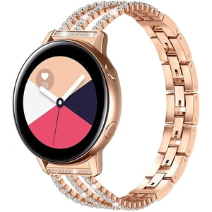 Women's Diamond Strap for Samsung Galaxy Watch 3 41mm 45mm Band Jewelry Bracelet S3 42mm 46mm Active 2 Gear 20mm 22mm Wristbands