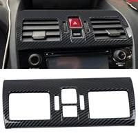 for subaru wrx sti 2014 2019 carbon fiber style interior middle console air vent trim frame 1pcs