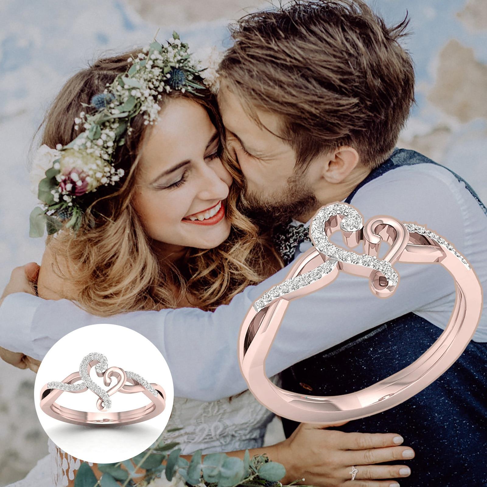 Anillo de compromiso vintage para mujer, accesorios de joyería para mujer, joyas...