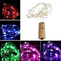 Mini guirlande lumineuse LED en fil dargent de 2M  feerique  pour bouteille de vin  decoration de maison  noel  mariage  fete