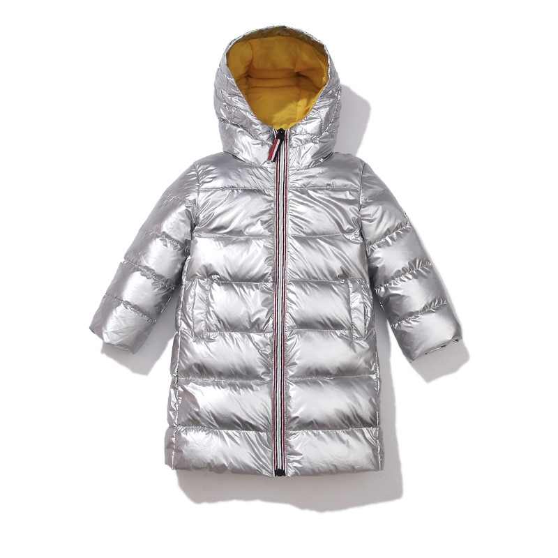 2020 New Children Winter Jacket for Kids Girls Silver Gold Boys Hooded Coat Baby Clothing Outwear Parka Girls Down Coats
