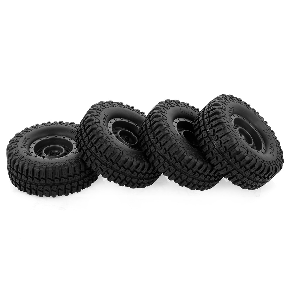 4 pçs austar 100mm 1.9 Polegada aro roda de borracha pneu para 1/10 rc carro traxxas hsp rc4wd tamiya axial scx10 d90 hpi rc rock crawler