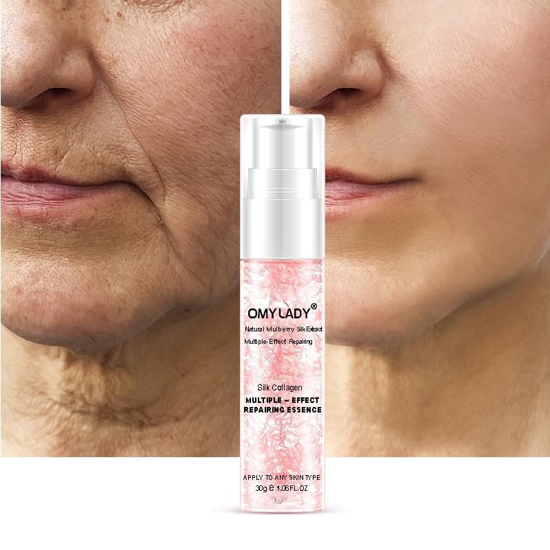 Anti-Aging Reduce Wrinkles Moisturizing Skin Care Natural Silk Collagen Repairing Essence Face Care Liquid Essence