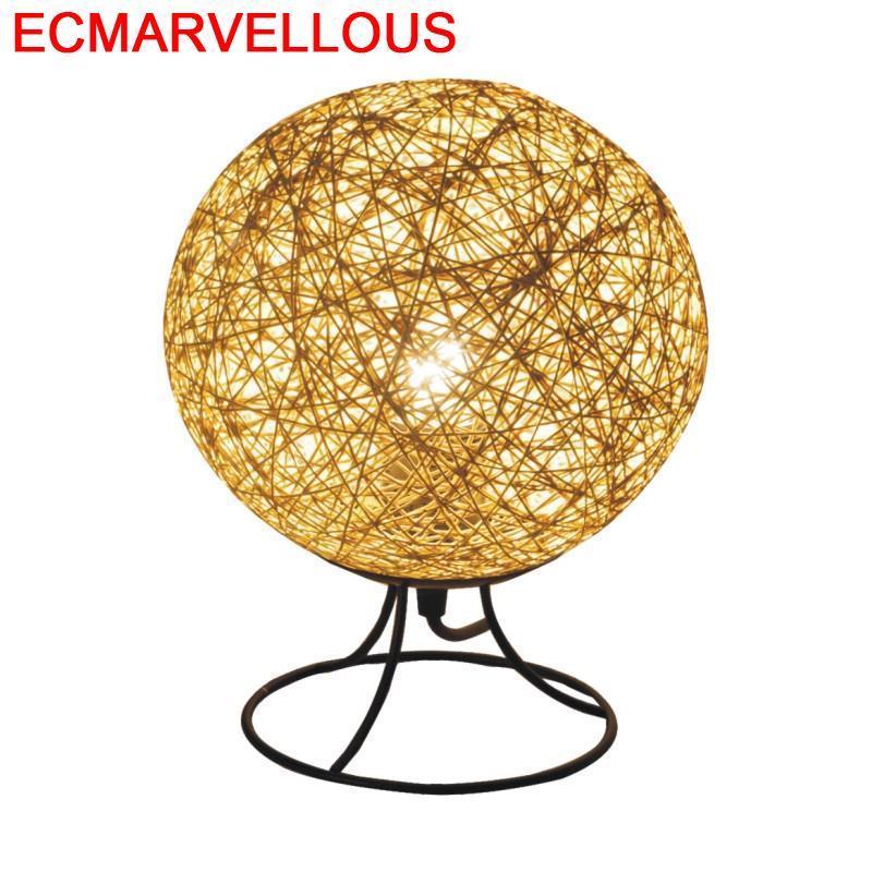 Abajour Bed Noel Nachttischlampe Lampada Comodino Home Noche Art Maison Lampara De Mesa Para El Dormitorio Deco Table Lamp
