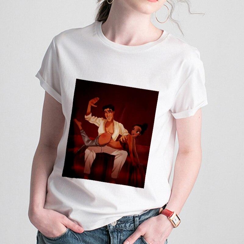 Camisetas blancas de nieve para mujer, camiseta Harajuku divertida de princesa de moda Kawaii para mujer, camisetas casuales, camiseta Vintage para mujer