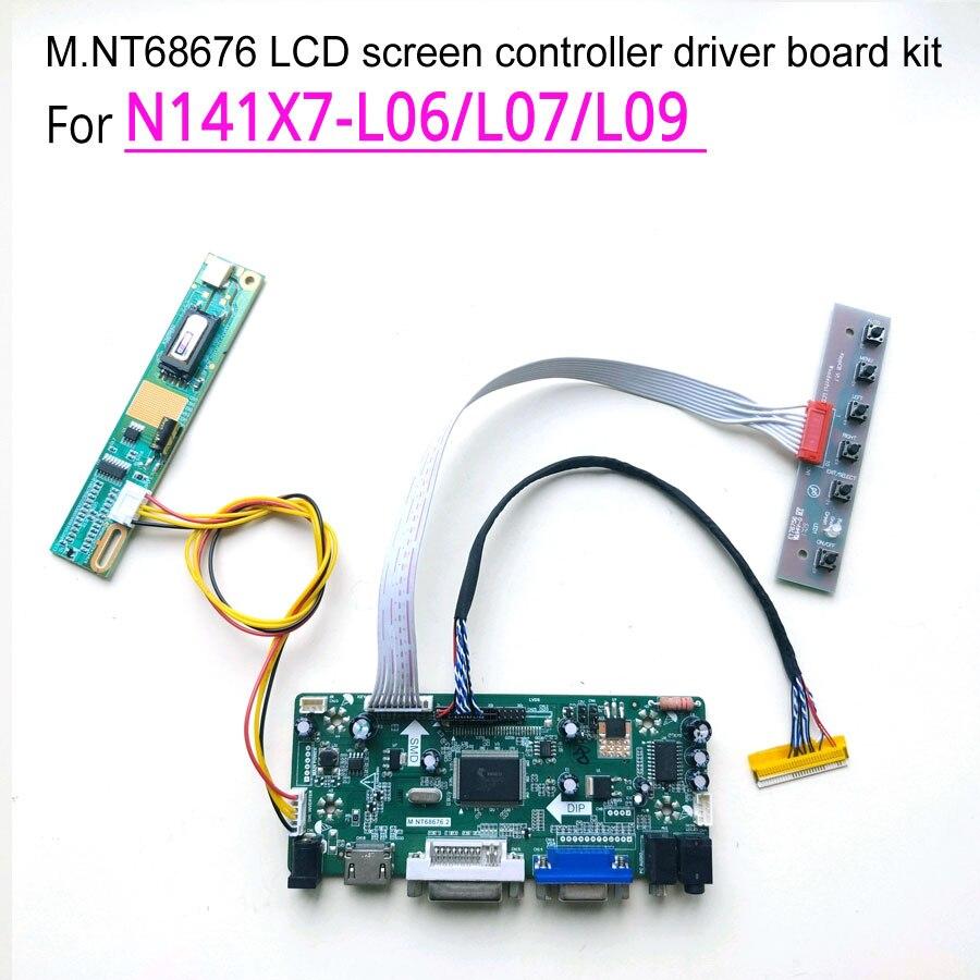 ل N141X7-L06/L07/L09 M.NT68676 جهاز تحكم بالشاشة محرك مجلس شاشات كريستال بلورية لوحة VGA + DVI CCFL LVDS 30Pin 14.1