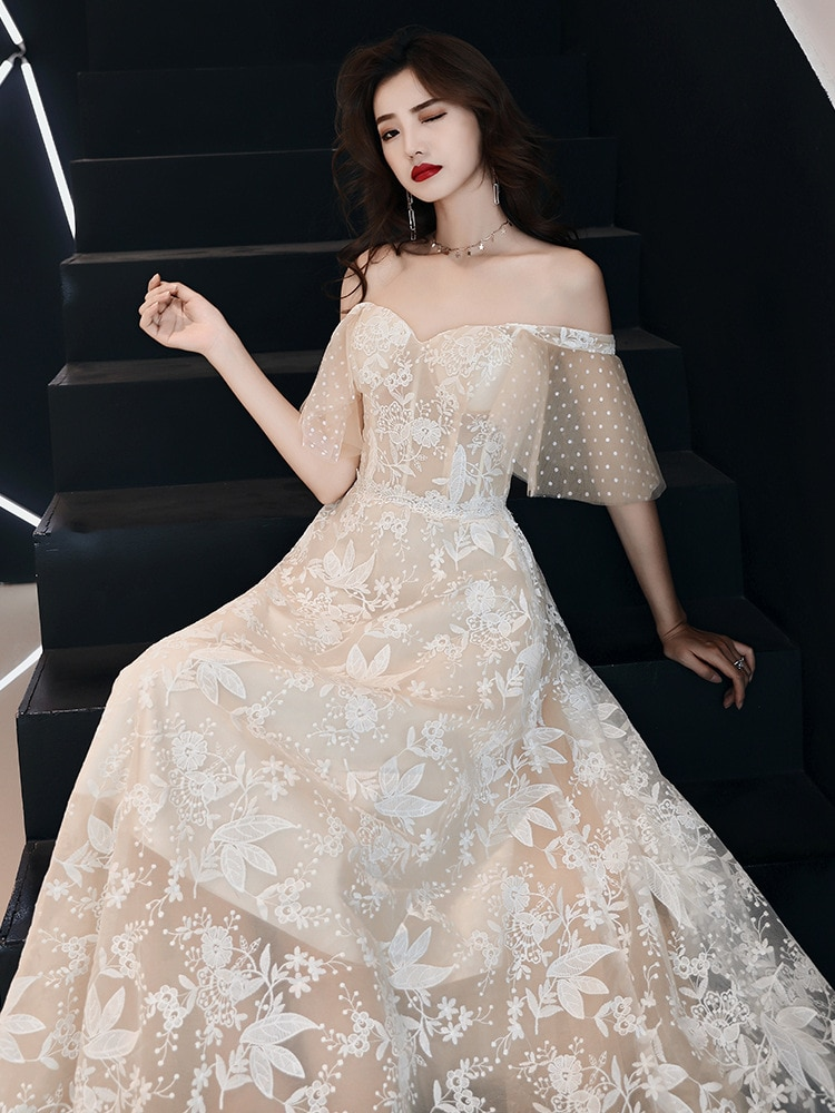 New arrival modern party dress qipao evening dresses prom crystal Vestido de Festa floor length pleat elegant frock style