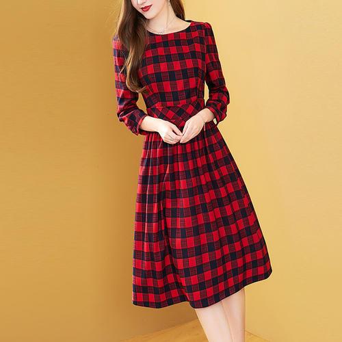 2020 dress female summer new fashion temperament square collar short sleeve printed silk slim long dress x709