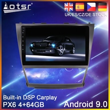 Reproductor de DVD para coche Android 9 64G PX6, navegación GPS para Toyota Camry 6 XV 2006-2012, unidad central de reproductor Multimedia estéreo de Radio para coche