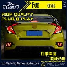 Автомобильный Стайлинг задний фонарь для Honda Civic задний светильник s 2016-2019 Civic X светодиодный задний светильник светодиодный динамический си...