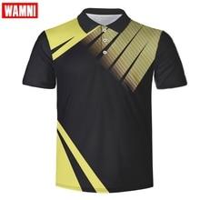 WAMNI Marke Mode 3D Tennis Hemd Harajuku Jugend Bodybuilding Mann Sport Lose-shirt Schnell Trocknend Badminton Shirt