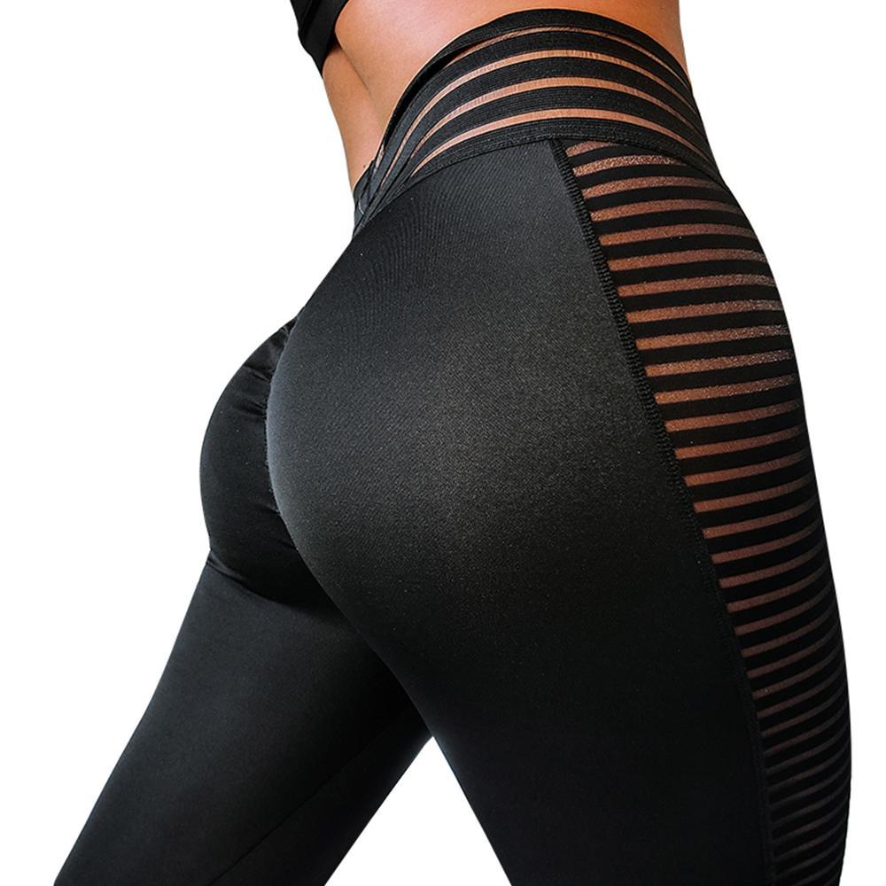Женские летние Леггинсы пуш-ап, черные спортивные Леггинсы с высокой талией для фитнеса