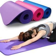 Tapis de Yoga de 60cm x 25cm x 1.5cm NBR tapis antidérapant tapis dexercice de sport de gymnase de Pilates pour les tapis de gymnastique environnementaux de forme physique de débutant