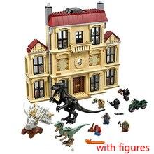 Jurassic Welt 2 75930 1046 stücke Dinosaurier Indoraptor Rampage Zu Lockwood Immobilien Baustein Spielzeug für Kinder 10928