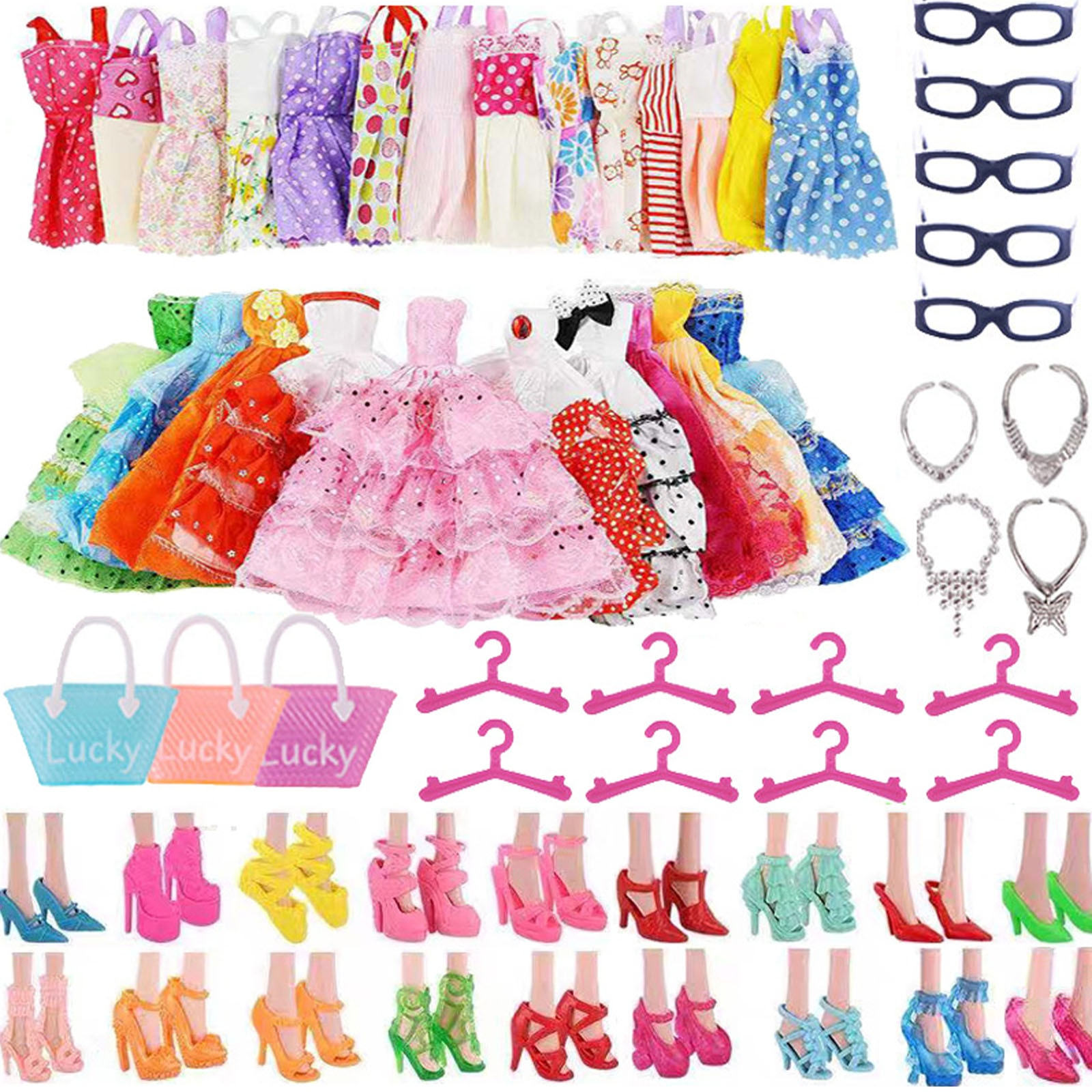 Барби Кукла Одежда Аксессуары для Барби кукольная обувь мини платье сумки Корона вешалки очки для Барби Кукла & 1/6 BJD Blyth