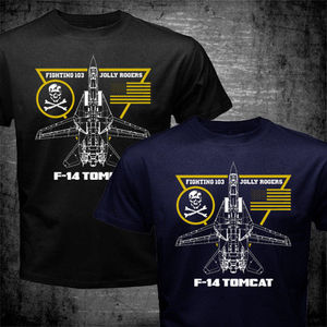 2020  Fashion F-14 Tomcat Fighting 103 Jolly Rogers Squadron Us Navy Aviation T-Shirt Tees