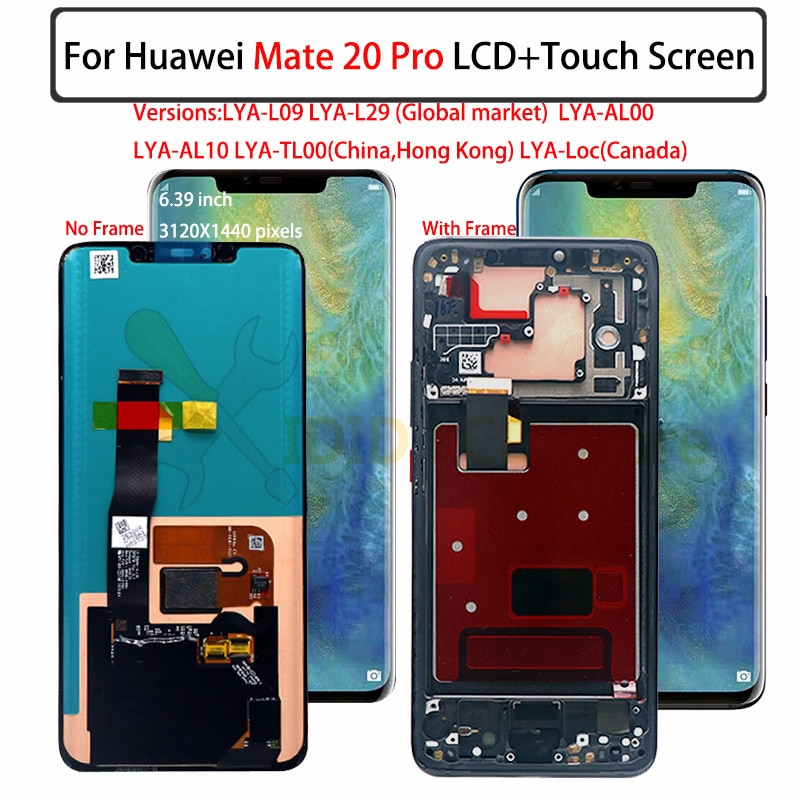 For Huawei Mate 20 Pro LCD display, with border touch screen digitizer assembly Mate 20Pro, a new and perfect touch screen