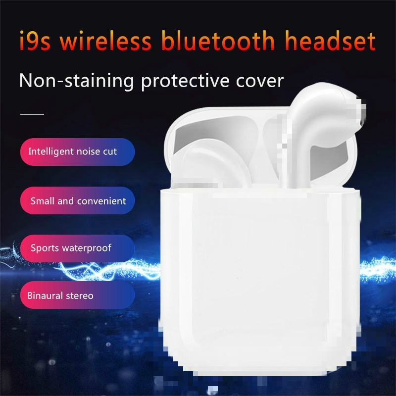I9s Tws Wireless Bluetooth Earphones Mini Stereo Earbuds With Microphone Headset Wired Earphone For