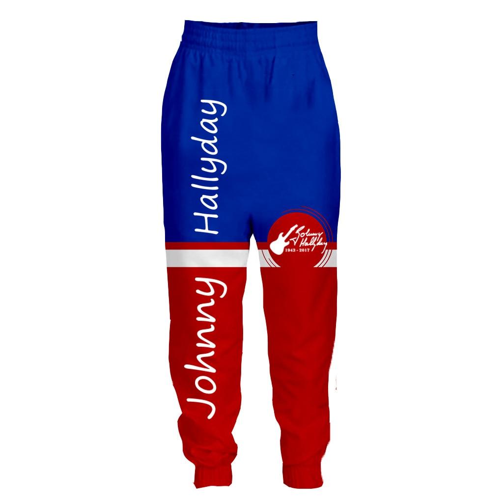 Recién llegado popular Jhonny halyday Francia estampado en 3D hombres mujeres moda cool shorts/pantalones/sudaderas con capucha con cremallera Envío Directo