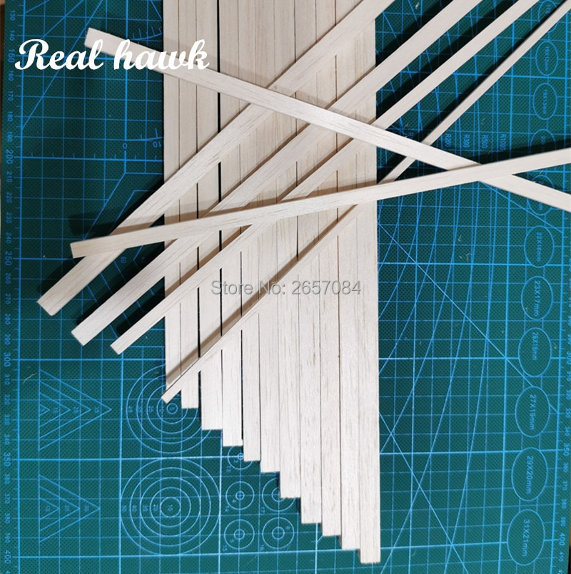 500 mm length 6 mm thickness width 7/8/9/10mm wood strip AAA+ Balsa Wood Sticks Strips for airplane/boat model DIY enlarge