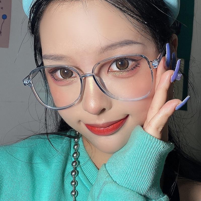 Retro Anti Blue Ray Computer Glasses Women Round Eye Glass Blocking Fashion Eyewear Optical Frames F