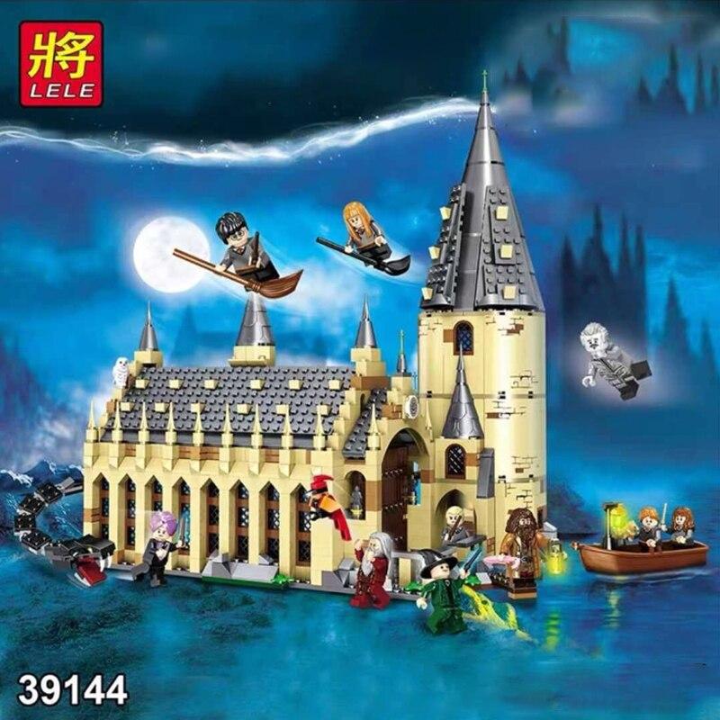 In stock Harri Movie Magic Castle Hagrid Compatible lepining 75954 Building Blocks Harri Toys For Children Gifts