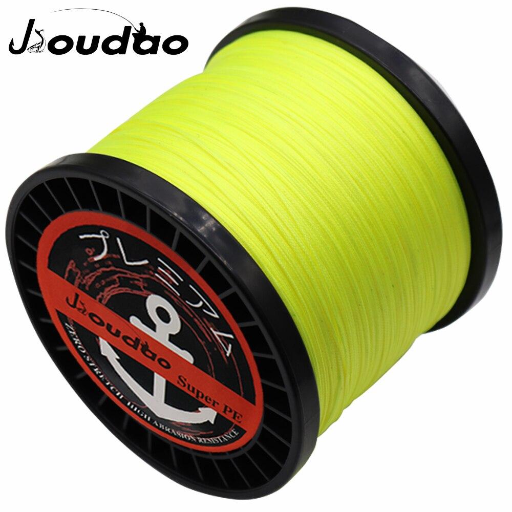 Jioudao 16 Strands 1500M Braided Fishing Line 55LB-280LB Sea Saltwater Fishing 100% PE Braid Line