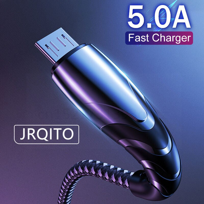 5A USB 타입 C 케이블 마이크로 USB 고속 충전 휴대 전화 안드로이드 충전기 타입-C 와이어 케이블 삼성 S10 화웨이 P30 프로 Xiaomi