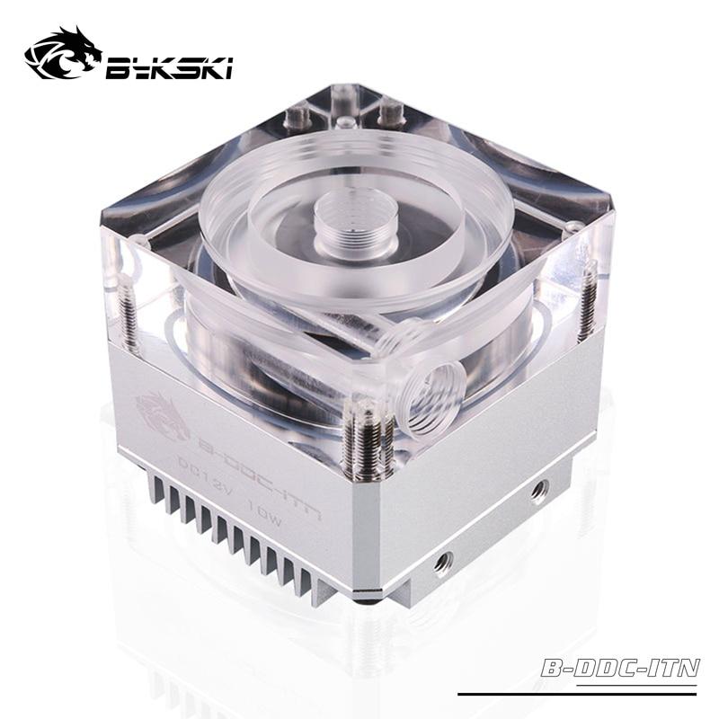 Bykski water cooling B-DDC-ITN,DDC Pump DC12V TDP10W Flow Lift 3.5 Meters 450L/H Radiator Support Combo Reservoir/Max 5000RPM