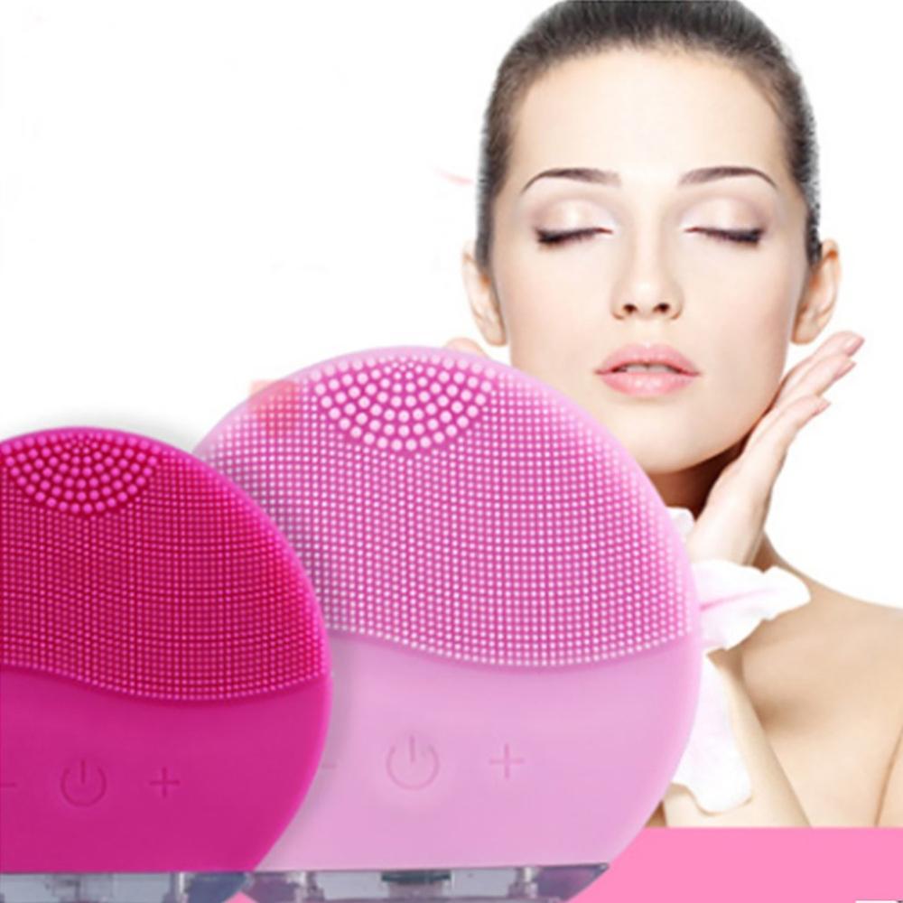 Silicone Face Cleansing Brush Electric Face Cleanser Electric Facial Cleanser Cleansing Skin Deep Washing Massage Brush недорого
