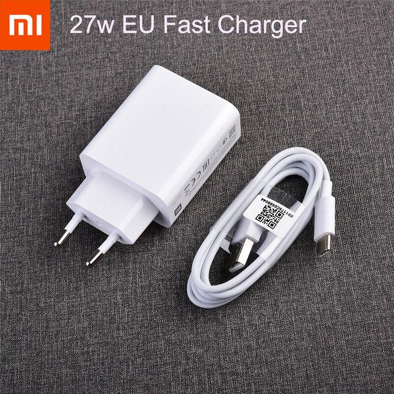 La UE nos mi 9 QC3.0 rápido cargador de pared USB Cable de tipo C de carga rápida para mi 9 8 SE 9t CC9 A3 6 mi x 2s max 3 4 rojo mi nota 8 7 pro 8t