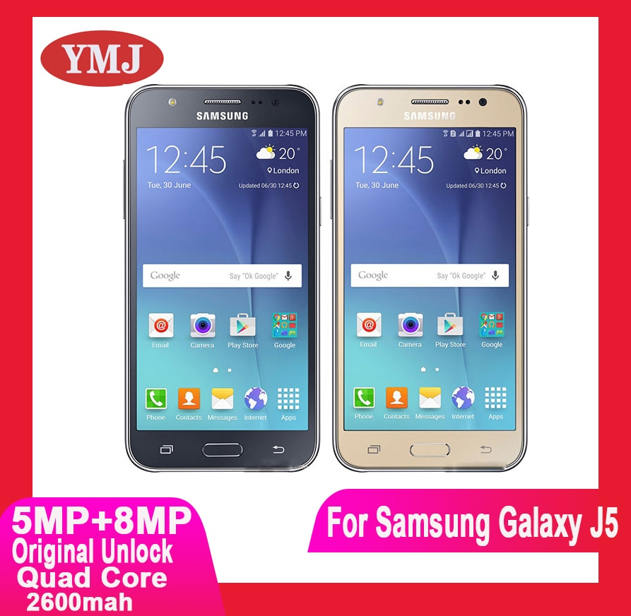 Original desbloquear (nuevo 90%) teléfono celular Samsung Galaxy J5 J500F Quad core...