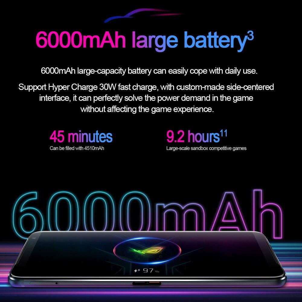 Фото2 - Новая глобальная прошивка Asus ROG 3 5G игровой телефон 6,59 дюйм. Snapdragon865/865 плюс 6000 мА/ч, 144 Гц FHD + безрамочный экран AMOLED NFC ROG Phone 3 ROG3 смартфон