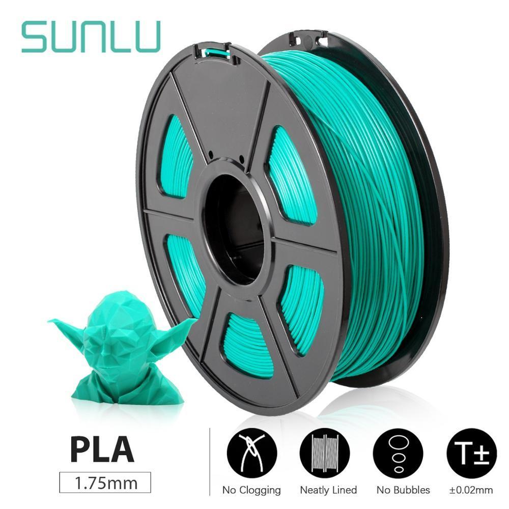 PLA SUNLU طابعة ثلاثية الأبعاد PLA خيوط 1.75 مللي متر لون رمادي 1 كجم 2.2LBS بكرة دقة الأبعاد +/- 0.02 مللي متر خيوط d imprimante ثلاثية الأبعاد