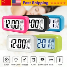 Large Display With Calendar For Home Office Travel Table Clock Snooze Electronic Kids Clock LED Desktop Digital Clocks