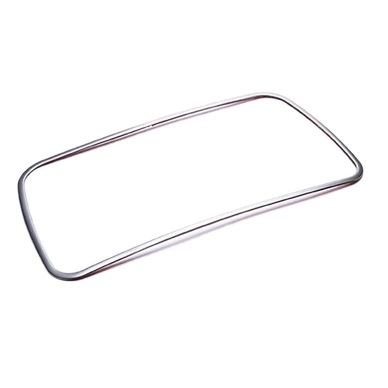 Soporte de taza de acero inoxidable para decoración de coche moldura de cubierta de Marco emblema pegatina para BMW 5 Series F10 Accesorios