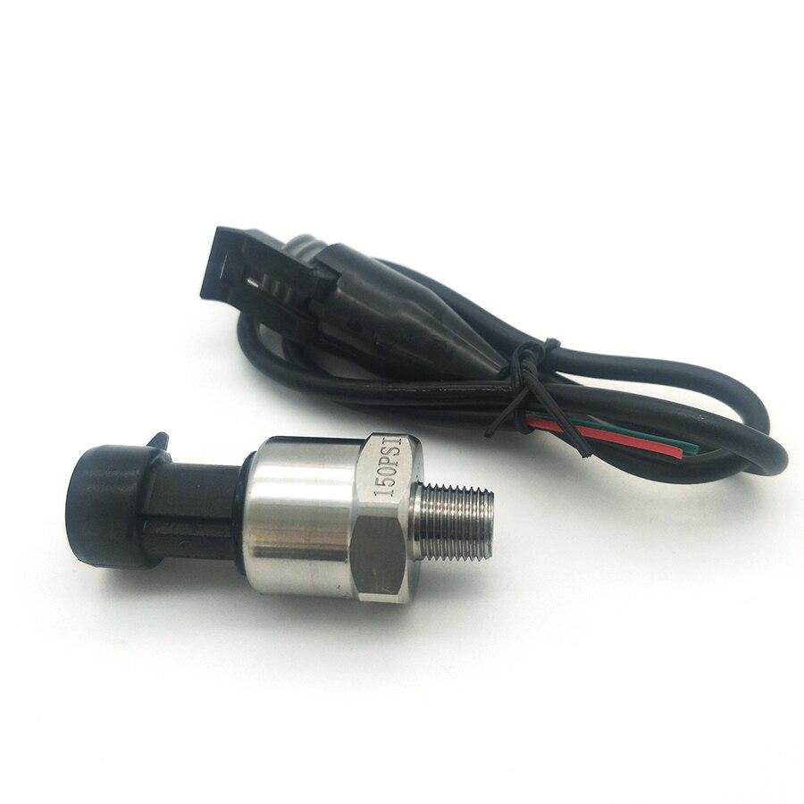 """Sensor de presión de 0-150 PSI transductor de presión de aire y agua de combustible de aceite rosca NPT de 1/8"""""""