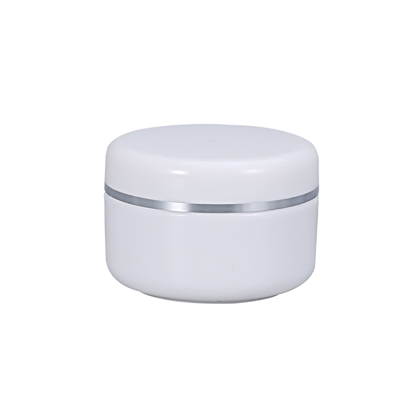 White Small Plastic Jars with Lids and Inner Liners Empty Make up Essential Oils Lotion container travel bottle 1PCS