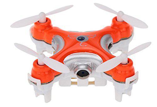 None Cheerson CX-10C CX10C Mini 2.4G 4CH 6 Axis Nano RC Quadcopter with Camera RTF Mode 2 (Orange)