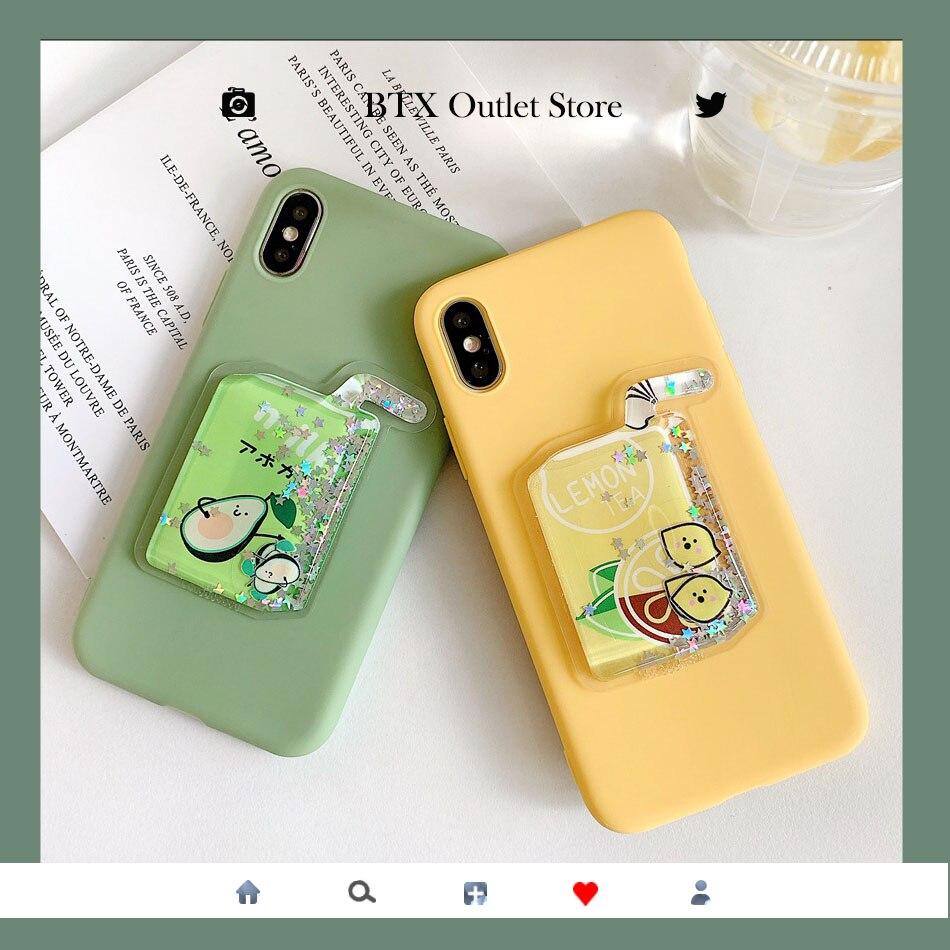 For Redmi Note 8 Pro 8T 7 8A Cute Squishy Liquid Quicksand DIY Soft Case For Redmi K30 K20 5 Plus 6 6A 4X Stress Reliever Cover