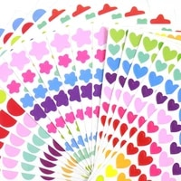 500 pages rainbow stationery sticker love circle five pointed star bulk leaflet diy album aesthetic stickers bullet journal