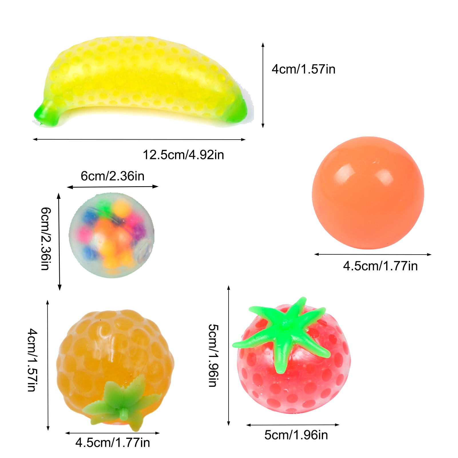 9pcs Fun Soft Fruit Anti Stress Ball Stress Reliever Toy For Kids Adult Anxiety Stress Relief Fidget Decompression Sensory Toy enlarge